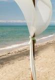 Dekoracja na tropikalnej plaży Zdjęcia Royalty Free