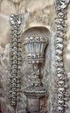 Dekoracja od ludzkich kości i czaszek Zdjęcia Royalty Free