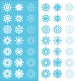Dekoracja płatka śniegu set Obraz Stock