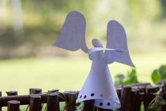 Dekoracja papierowy anioł. Fotografia Royalty Free