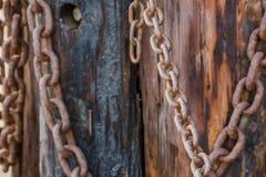 Dekoracja piratów łańcuchy Zdjęcie Stock