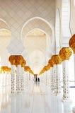 Dekoracja Sheikh Zayed Uroczysty meczet zdjęcia stock
