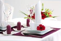 dekoracja stół Zdjęcie Stock