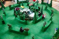 Dekoracja teren w zakupy centrum handlowym Zdjęcie Stock