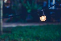 Dekoracja Z światłami Zdjęcia Stock