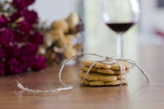 Dekoracja z imbirowymi ciastkami Fotografia Stock