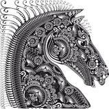 Dekoracja zwierzęcy ornament, koń głowa Fotografia Royalty Free