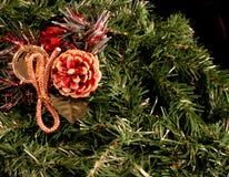 dekoracje świąteczne drzewne Zdjęcie Stock