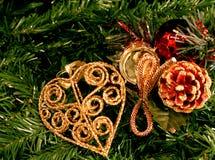 dekoracje świąteczne drzewne Fotografia Stock