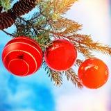 dekoracje świąteczne ekologicznego drewna Zdjęcia Stock