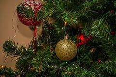 dekoracje świąteczne ekologicznego drewna Zdjęcia Royalty Free