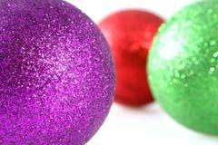 dekoracje świąteczne głębokości pola płytki Obraz Royalty Free