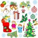 dekoracje świąteczne ustawienia Obrazy Stock