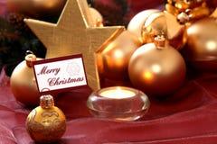 dekoracje świąteczne złotych Obraz Royalty Free