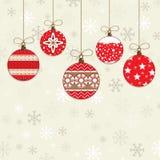 dekoracje czerwone Zdjęcia Royalty Free
