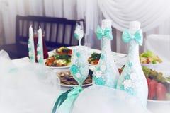 Dekoracje dla ślubu stołu zdjęcie royalty free