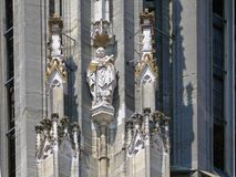 Dekoracje na outside Regensburger katedra Zdjęcie Stock