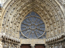 Dekoracje, Reims katedra, Francja Obraz Royalty Free