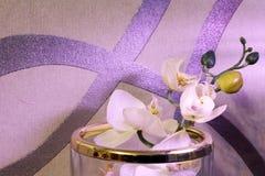 Dekoracje w domu Flowerpots, wazy, świeczki zdjęcia stock