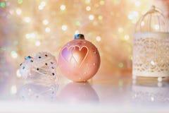 dekoracji świątecznej nowego roku Obrazy Royalty Free