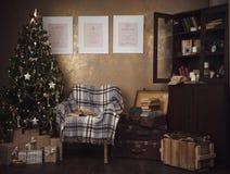 dekoracji świątecznej nowego roku Rzemiosło styl Obrazy Stock