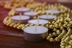 2 dekoracji cristmas bałwana dekoracja nowego roku świece Fotografia Stock