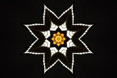 dekoracyjna świecąca gwiazda Obraz Royalty Free