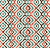 Dekoracyjna bezszwowa tekstura w tradycyjnych jaskrawych kolorach ilustracji