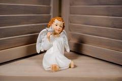 Dekoracyjna boże narodzenie zabawka w postaci ślicznego anioła Fotografia Stock