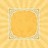 Dekoracyjna Brunatnożóła rocznik rama, tło i royalty ilustracja