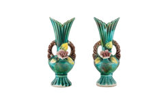 Dekoracyjna ceramiczna waza odizolowywająca Fotografia Royalty Free