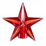 Dekoracyjna czerwona klingeryt gwiazda Zdjęcie Stock