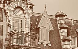 Dekoracyjna dach linii architektura Zdjęcie Royalty Free