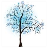 dekoracyjna drzewna zima Zdjęcia Royalty Free