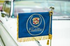 Dekoracyjna flaga z emblematem luksusowy samochodowy Cadillac Eldorado Obrazy Royalty Free