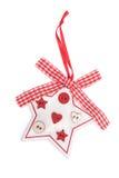 Dekoracyjna gwiazda z koronką odizolowywającą na bielu Obraz Royalty Free