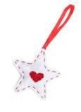 Dekoracyjna gwiazda z koronką odizolowywającą na bielu Obraz Stock