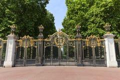 Dekoracyjna Kanada brama Zielony Parkowy pobliski buckingham palace, Londyn, Zjednoczone Królestwo Fotografia Royalty Free