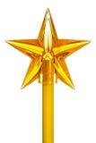 Dekoracyjna kolor żółty gwiazda na kiju Zdjęcie Royalty Free