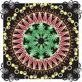 Dekoracyjna kolorowa rama royalty ilustracja