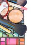 Dekoracyjna kosmetyk granica Obrazy Stock