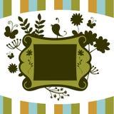 dekoracyjna kwiecista rama Ilustracja Wektor