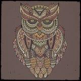Dekoracyjna ornamentacyjna sowa również zwrócić corel ilustracji wektora Obraz Royalty Free