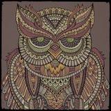 Dekoracyjna ornamentacyjna sowa również zwrócić corel ilustracji wektora Fotografia Royalty Free