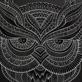 Dekoracyjna ornamentacyjna sowy głowa Zdjęcie Stock