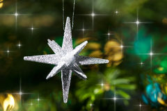 dekoracyjna ornamentu srebra gwiazda Zdjęcie Royalty Free