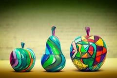 Dekoracyjna owoc - bonkrety i jabłka Fotografia Royalty Free