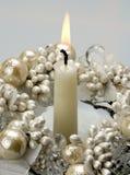 dekoracyjna płonąca świeczka Zdjęcia Royalty Free