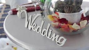 Dekoracyjna plakieta z wpisowym ślubem zdjęcie wideo