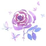 Dekoracyjna ręka rysująca menchii róży ilustracja Obraz Stock